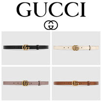 GUCCI 【ダブルGバックル】 幅1.5cm Leather belt with Double G