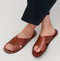 """COS MEN""CROSSOVER LEATHER SANDALS BROWN"