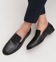 """COS MEN""LEATHER SLIP-ON SHOES BLACK"