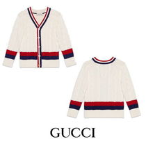 【GUCCI】Children's cotton cardigan with Web 9007