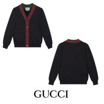 【GUCCI】Children's cotton cardigan with Web 4104
