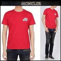 【MONCLER】18SS 刺繍ロゴパッチコットン Tシャツ RED/追跡付