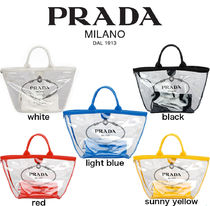 PRADA【関税・送料込☆】fabric and plexiglas handbag