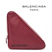 ∞∞ BALENCIAGA ∞∞ Triangleレザーポーチ☆