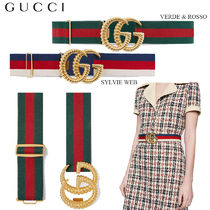 【正規品保証】GUCCI★18春夏★WEB ELASTIC BELT W/ DOUBLE G