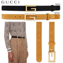 【正規品保証】GUCCI★18春夏★SUEDE BELT WITH G BUCKLE