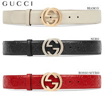 【正規品保証】GUCCI★18春夏★GUCCI SINGNATURE LEATHER BELT