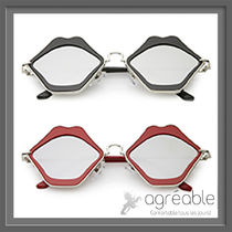 国内発送★zeroUV★Cute Flat Mirrored Lens Lip Shape C674