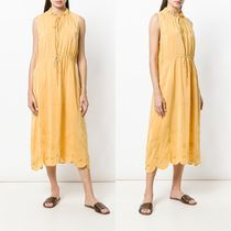 ∞∞See by Chloe∞∞ open embroidery tie neck midi ドレス