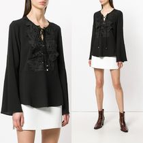 ∞∞Michael Kors∞∞ lace applique bell-sleeve ブラウス