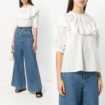 ∞∞See by Chloe∞∞ eyelet ruffle neck 半袖 トップス