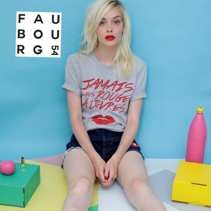 FAUBOURG54 Tシャツ・カットソー ☆日本未入荷FAUBOURG54★赤口紅 ロゴオリジナルJSRAL Tシャツ