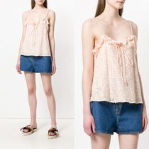 ∞∞See by Chloe∞∞ ruffle-trimmed floral トップス☆ピンク