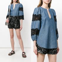 ∞∞See by Chloe∞∞ floral pattern loose ブラウス☆ブルー