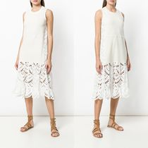 ∞∞See by Chloe∞∞ half lace embroidered ドレス☆ホワイト