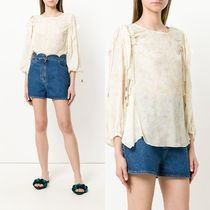 ∞∞See by Chloe∞∞ floral ruffle trim ブラウス☆イエロー