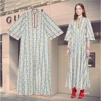18PRE FALL【GUCCI】ローズガーデンプリント コットンワンピ