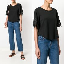 ∞∞See by Chloe∞∞ lace trim Tシャツ☆ブラック
