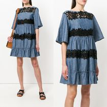 ∞∞See by Chloe∞∞ lace insert chambray ドレス☆ブルー