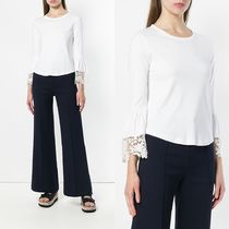∞∞See by Chloe∞∞ lace trim cropped トップス☆ホワイト