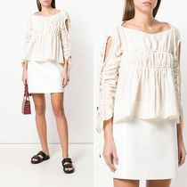∞∞CARVEN∞∞ flared ruched ブラウス☆ホワイト