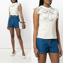 ∞∞See by Chloe∞∞ scalloped-collar トップス☆ホワイト