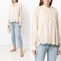 ∞∞See by Chloe∞∞ floral-embroidered シャツ☆ベージュ