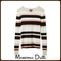 MassimoDutti♪RIBBED SWEATER WITH STRIPES