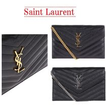 【Saint Laurent】Monogram wallet on chain☆関税・送料込