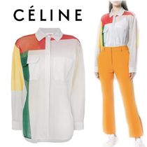 【18SS】大注目!!★CELINE★colour block panel shirt