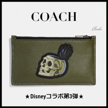 ディズニー×Coachコラボ第3弾/Zip Card Case With Skull♪32638