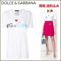 ★関税込 18春夏★Dolce & Gabbana #DG is Amore T-シャツ