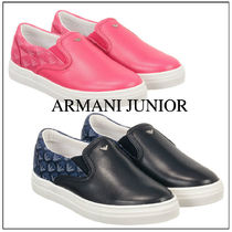 関税/送料込/Armani Junior/Leather&textile Trainers/大人もOK