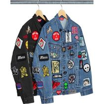 13 week SS18 Supreme Patches Denim Trucker Jacket