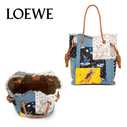 LOEWE トートバッグ 追跡あり☆LOEWE Flamenco K Tote Paula Patc Bag Multicolor