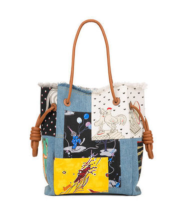LOEWE トートバッグ 追跡あり☆LOEWE Flamenco K Tote Paula Patc Bag Multicolor(2)