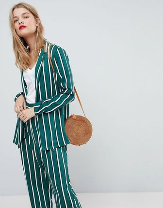 ◎送料込み◎ ASOS Soft Blazer in Green Stripe