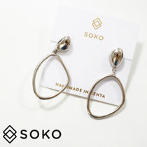 【SOKO ソコ 】Sabi Large Drop Hoop ピアス