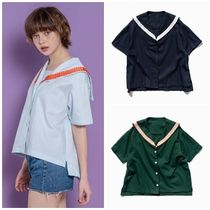 日本未入荷SALAD BOWLSの18 SAILOR RIBBON BLOUSE 全3色