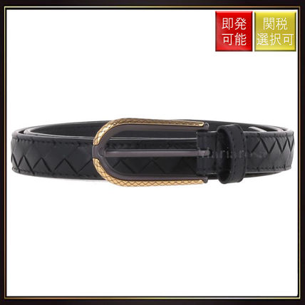 【ボッテガヴェネタ】Belt In Intrecciato Black