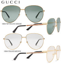 【正規品保証】GUCCI★18春夏★AVIATOR METAL GLASSES WITH WEB