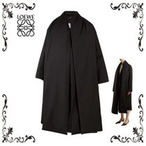 LOEWE(ロエベ) Detachable-scarf open-front wool coat コート
