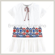 ERMANNO SCERVINO(エルマノシェルビーノ ) キッズワンピース・オールインワン 国内発送★EemannoScervino★kids★embroidered dressワンピース