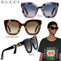 【正規品保証】GUCCI★18春夏★ROUND-FRAME SUNGLASSES W/ STAR