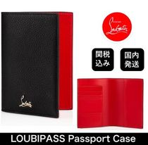 ■ルブタン■ Loubipass Passport Holder -Black-
