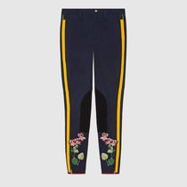 18SS Flower embroidered legging with stripe