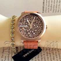 ★眩しい!★Diesel Flare Rocks Orange Leather Watch DZ5552