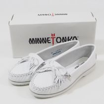Minnetonka Unbeaded Kilty モカシン ホワイト[RESALE]