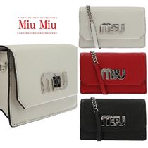 【Miu Miu】Miu logo bag in Madras leather☆(関税送料込み)