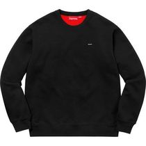 Week13 18S/S Supreme Contrast Crewneck Black